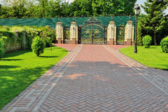Gates to the park Stock Image