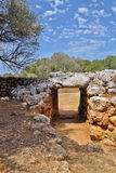 Gates to the prehistoric village Son Catlar, Minorca, Spain Stock Photos