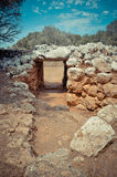 Gates to the prehistoric village Son Catlar, Minorca, Spain Stock Photography