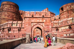 At the gates to the Red Fort Royalty Free Stock Photo