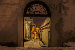 Gates to Short leg street in Old town of Tallinn Royalty Free Stock Images