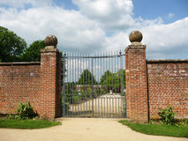 Gates To Walled Garden. The gates to the walled garden within Lydiard Park In Swindon Royalty Free Stock Photography