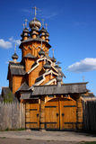 Gates to wooden church. Gates to old wooden church in a village royalty free stock photo