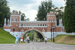 The Gates  Tsaritsyno Moscow Heat Royalty Free Stock Images