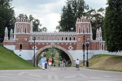 The Gates  Tsaritsyno Russia Royalty Free Stock Images