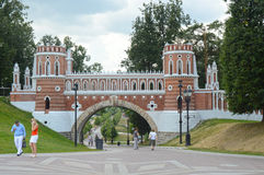 The Gates  Tsaritsyno Stock Images