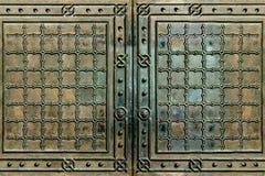 Gates vintage bronze steel texture. Vintage gates steel bronze texture Stock Photos