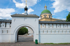 Gates and Wall St. Daniel monastery Stock Image