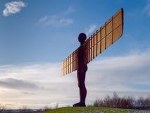 GATESHEAD, DE TYNE EN WEAR/UK - 19 JANUARI: Mening van de Engel van Royalty-vrije Stock Foto