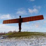 GATESHEAD, DE TYNE EN WEAR/UK - 19 JANUARI: Mening van de Engel van Royalty-vrije Stock Foto's