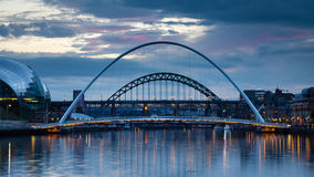 Gateshead Evening Royalty Free Stock Images