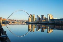 Gateshead-Jahrtausend-Brücke Lizenzfreie Stockbilder
