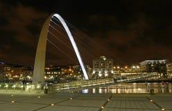 Gateshead-Jahrtausend-Brücke Stockfotos