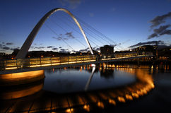 Gateshead-Jahrtausend-Brücke Lizenzfreie Stockfotografie