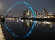 Gateshead milleniumbro royaltyfria bilder