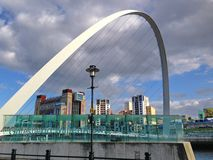 Gateshead Millennium Bridge in Newcastle Royalty Free Stock Image