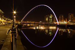 Gateshead Millennium bridge at night Royalty Free Stock Image