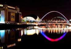 Gateshead at night Royalty Free Stock Images