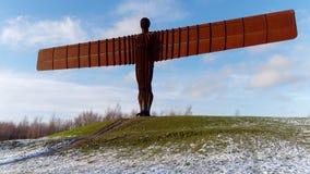 GATESHEAD, TYNE I WEAR/UK, - STYCZEŃ 19: Widok anioł Zdjęcia Royalty Free