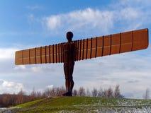 GATESHEAD, TYNE OCH WEAR/UK - JANUARI 19: Sikt av ängeln av Fotografering för Bildbyråer