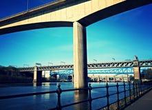 Gatesheadquayside de mening van de Tyne stock afbeeldingen
