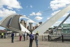 The Gateshed Millennium Bridge opening. Stock Image