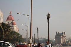 Gatewa van India en taj paleis India Stock Foto's
