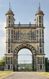 Gateway. Impressive old Gothic Entrance Archway Stock Photography