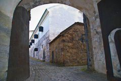 Gateway;. The entrance to the Citadel, the inner part of Fredriksten fortress. Image is shot 15/10-2011 Royalty Free Stock Images