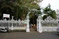 Gateway aan de Botanische Tuin van Pamplemousses Royalty-vrije Stock Foto