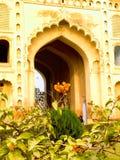 Gateway aan een groot gedenkteken in Lucknow Stock Foto's
