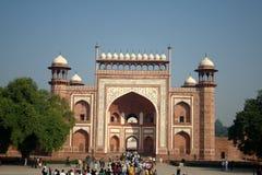 Gateway aan Taj Mahal, Agra Stock Fotografie