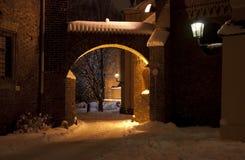 Gateway aan Wroclaw Ostrow Tumski. royalty-vrije stock afbeeldingen