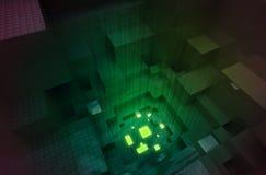 Gateway abstracto a la cuarta dimensión stock de ilustración
