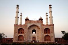 Gateway alla tomba del Akbar. Fotografie Stock