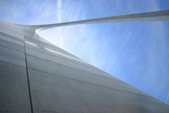 Gateway Arch from Below Stock Photography