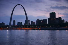 Gateway Arch from Mississippi royalty free stock images