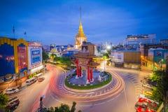 The Gateway Arch (Odeon Circle) landmark of Bangkok Chinatown. BANGKOK, THAILAND - October 5, 2015 : The Gateway Arch (Odeon Circle) landmark of Bangkok Stock Photography