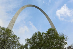Gateway Arch over trees Stock Image