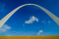 Gateway arch sculpture in St Louis Missouri royalty free stock image