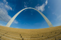 Gateway arch sculpture in  St Louis Missouri Royalty Free Stock Images