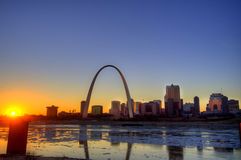 The Gateway Arch. In St. Louis, Missouri Royalty Free Stock Photography