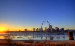 Gateway Arch. The Gateway Arch in St. Louis, Missouri Royalty Free Stock Photography