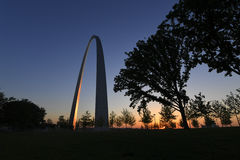 Gateway Arch in St. Louis, Missouri.  Royalty Free Stock Photography