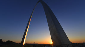Gateway Arch in St. Louis, Missouri.  Royalty Free Stock Image