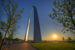 Gateway Arch. In St. Louis, Missouri Royalty Free Stock Photography