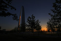 Gateway Arch in St. Louis, Missouri.  Royalty Free Stock Images