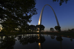 Gateway Arch in St. Louis, Missouri.  Stock Images