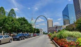 Gateway Arch in St. Louis, Missouri. Downtown St. Louis, Missouri with the Gateway Arch Stock Photo