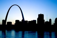 Gateway Arch St. Louis Missouri Skyline Royalty Free Stock Photos